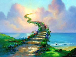 StairwayToHeaven painting - Jim Warren
