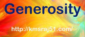 Generosity-kmsraj51
