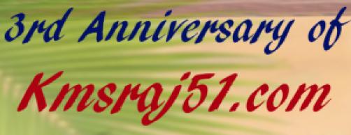 3rd Anniversary of Kmsraj51-com